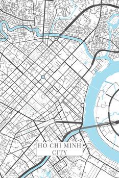Map Ho Chi Minh City white