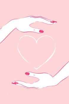 Illustration Holding heart