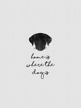 Illustration Home Is Where The Dog Is