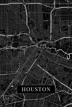 Map Houston black