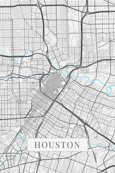 Map Houston white