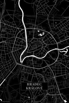 Map Hradec Kralove black