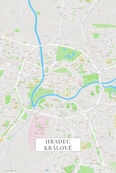 Map Hradec Kralove color
