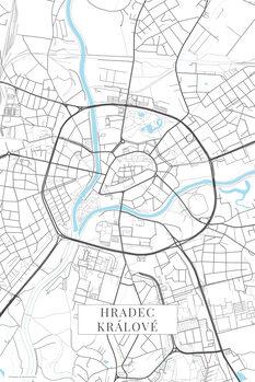 Map Hradec Kralove white