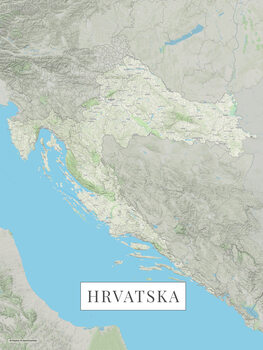 Map Hrvatska color