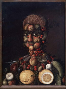 Fine Art Print Human figure made of fruits and vegetables