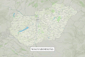 Map Hungary color