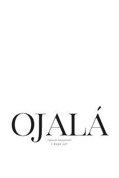 Illustration I hope so spanish definition typography art