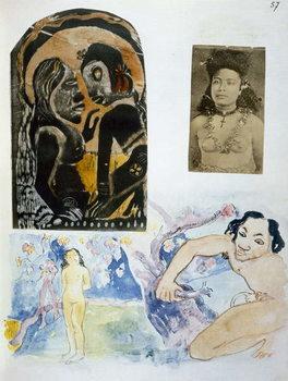 Fine Art Print Illustrations from 'Noa Noa, Voyage a Tahiti'