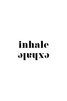 Illustration Inhale exhale scandinavian typography art