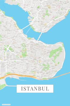 Map Instanbul color