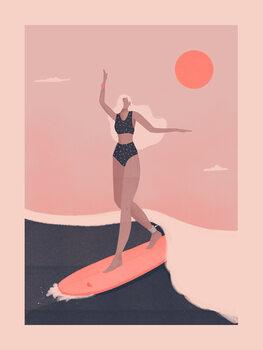Illustration Into the surf