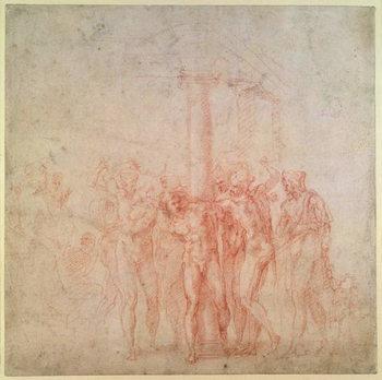 Taidejuliste Inv. 1895 6-15-500. R.  The Flagellation of Christ