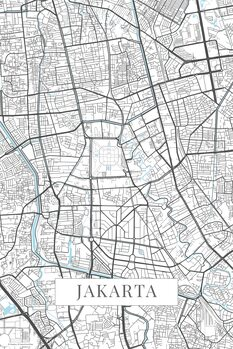 Map Jakarta white
