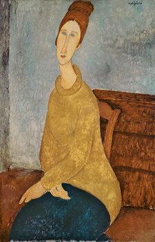 Fine Art Print Jeanne Hebuterne in a Yellow Jumper