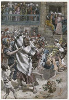 Reprodução do quadro Jesus Before Herod