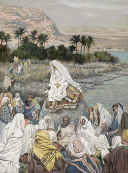 Taidejuliste Jesus Preaching by the Seashore