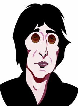 Fine Art Print John Lennon, English singer, songwriter , colour 'graphic' caricature