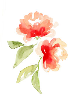 Illustration Kailey abstract flower