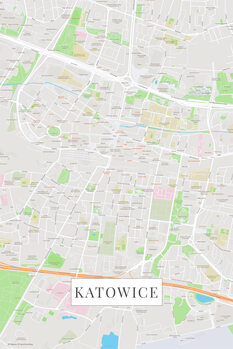 Map Katowice color