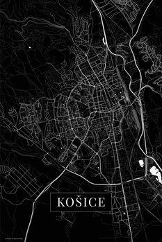 Map Košice black
