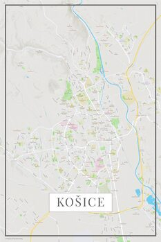 Map Košice color