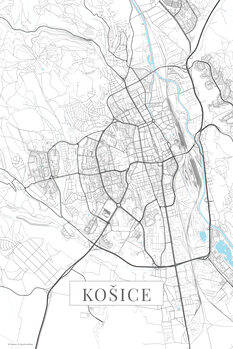 Map Kosice white