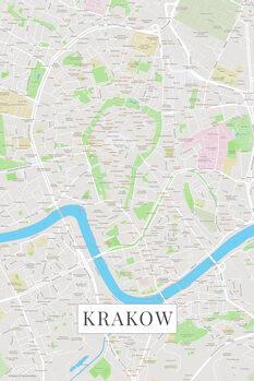 Map Krakow color