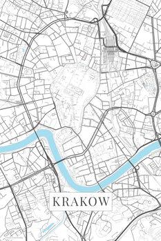Map Krakow white