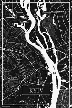 Map Kyiv black