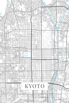 Map Kyoto white