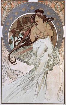 Fine Art Print La Musique - by Mucha, 1898.