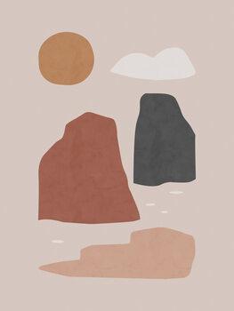 Illustration Ladscape & Sun