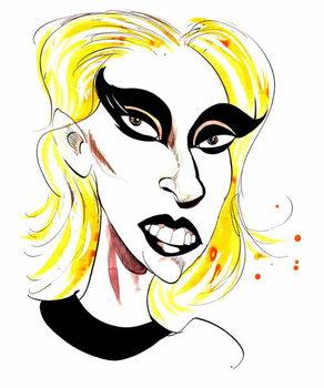 Fine Art Print Lady Gaga  - carciature