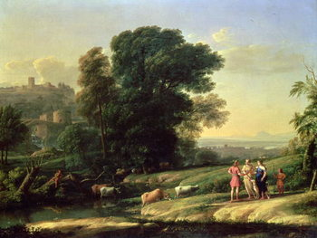 Fine Art Print Landscape with Cephalus and Procris Reunited by Diana