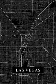 Map Las Vegas black