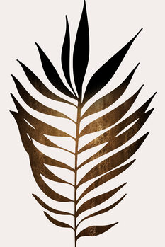 Illustration Leaf No.6 DARK GOLD