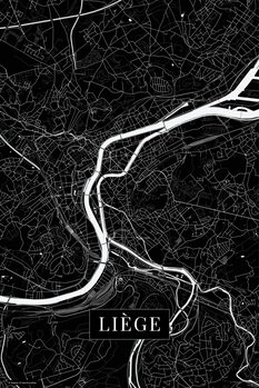 Map Liege black