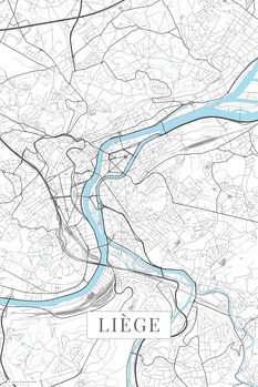 Map Liege white