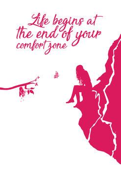 Illustration Life begins - Pink