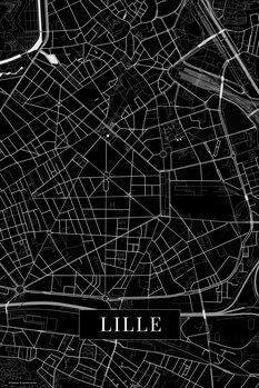 Map Lille black