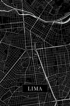Map Lima black