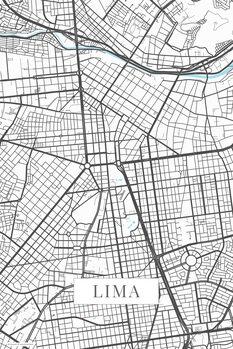 Map Lima white