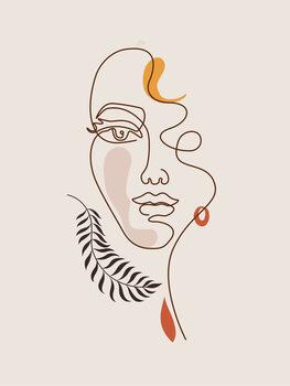 Illustration Line Art - Face