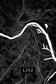 Map Linz black