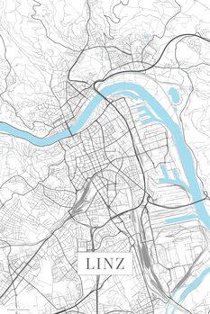 Map Linz white