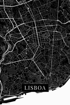 Map Lisboa black