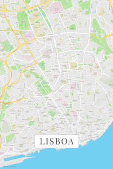 Map Lisboa color