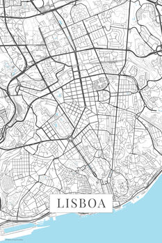 Map Lisboa white
