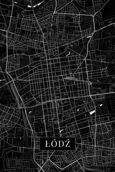 Map Lodz black